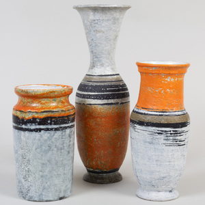 Three Gorka Livia Pottery Vases