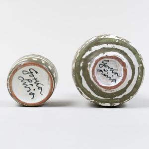 Two Gorka Livia Glazed Earthenware Vessels