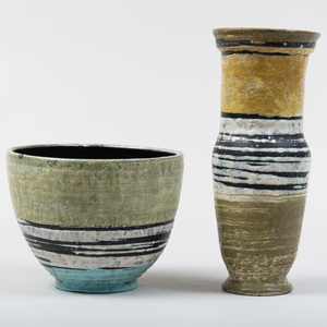 Two Gorka Livia Glazed Earthenware Vessels