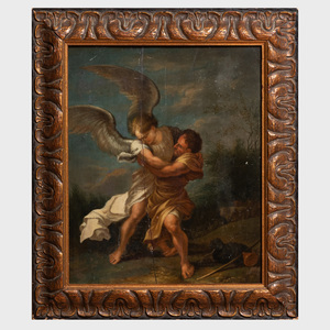 After Salvator Rosa (1615-1673): Jacob Wrestling with the Angel