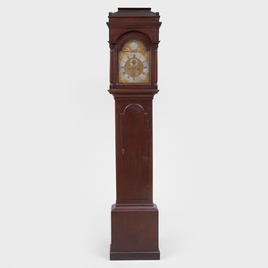 Federal Cherry Tall Case Clock, dial signed Cornelius Miller, New England