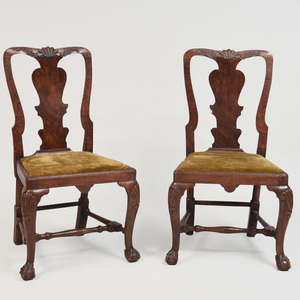 Pair of George I Beechwood Side Chairs