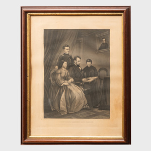 After F. Schell: President Lincoln and Family