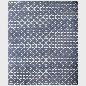 Cotton Flatweave Navy Rug