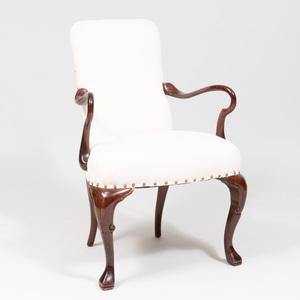 George II Style Mahogany Armchair