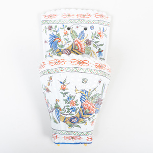 French Faience Wall Pocket