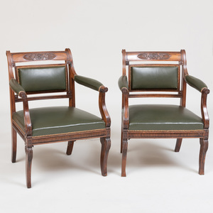 Pair of George IV Colonial Indian Rosewood Armchairs