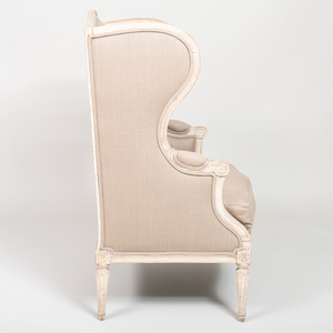 Louis XVI Style Cream Painted Bergere