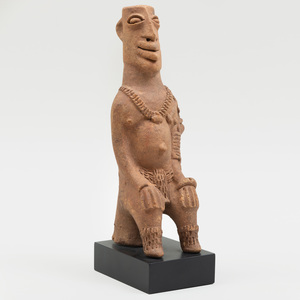 Koma Builsa Seated Terracotta Figure, Ghana