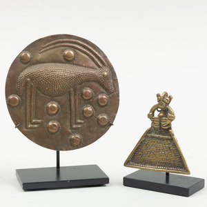 Two West African Brass Plaques