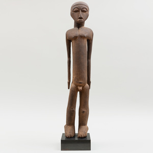 Large Lobi Wood Standing Bateba Figure, Burkina Faso