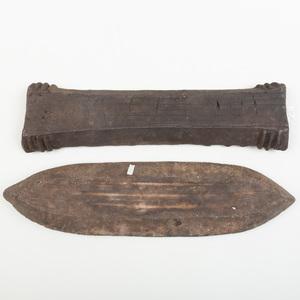 Two Kuba Tukula Powder Funerary Bars, Democratic Republic of the Congo