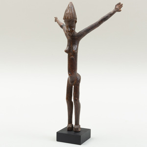 Lobi Wood Standing Female Figure, Burkina Faso