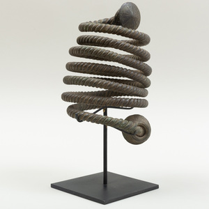 West African Braided Spiral Bronze Currency, Lower Niger