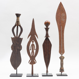 Group of Four African Metal Ceremonial Knives