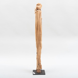 Senufo Wood and Cloth Kafigelejo Oracle Figure, Ivory Coast