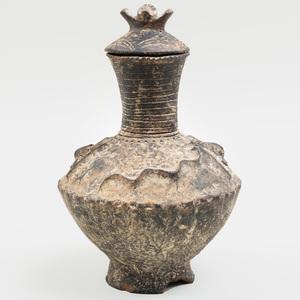 Ashanti Pottery Lidded Vessel, Ghana