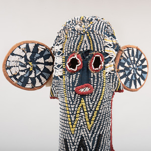 Large Bamileke Beaded Elephant Mask, Cameroon
