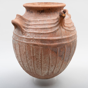 West African Buff Pottery Storage Jar