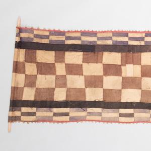 Kuba Brown and White Checked Cloth, Democratic Republic of the Congo