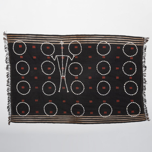 Indian Woven Cloth and Cowrie Shell Warrior Mohnei Body Cloth, Chang Naga