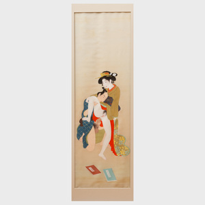Japanese School: Two Figures