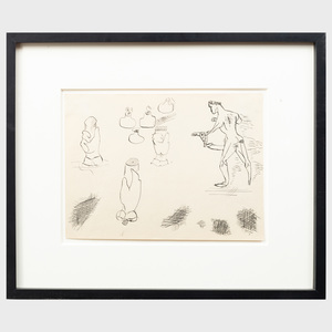 John D. Graham (1881-1961): Untitled (Erotic Drawing)
