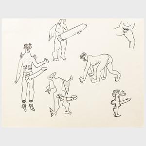 John D. Graham (1881-1961): Untitled (Erotic Drawing)