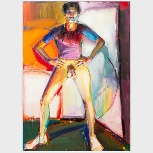Richard Hickam (b. 1944): Male Nude