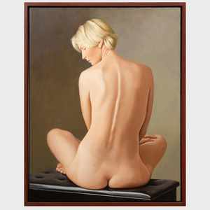 Ron Schwerin (b. 1940): Sue Nude on Piano Bench