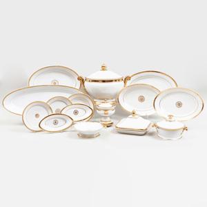 Paris Porcelain Gold Band Part Dinner Service