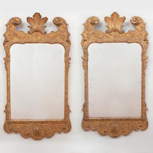 Pair of George II Style Giltwood Pier Mirrors