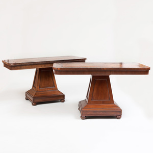 Pair of William IV Ebony Inlaid Mahogany Side Tables
