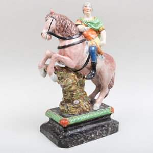 Staffordshire Pearlware Figure of William III, Probably Enoch Wood