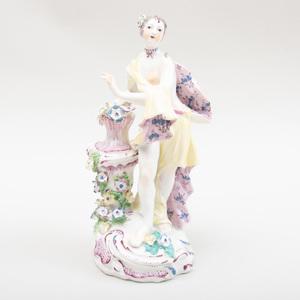 Bow Porcelain Figure of Flora
