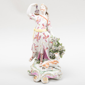 Derby Porcelain Figure of Diana