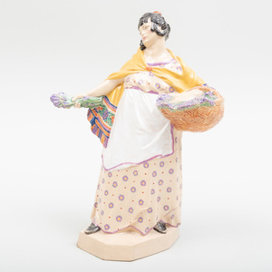 Charles Vyse Chelsea Pottery 'Lavender Girl'