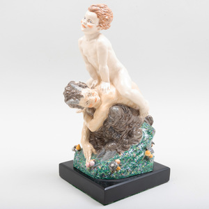Charles Vyse Chelsea Pottery 'Leap-Frog'