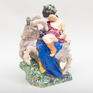 Charles Vyse Chelsea Pottery 'Bacchus on a Goat'