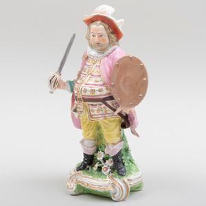 Derby Porcelain Figure of Falstaff