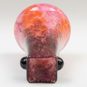 Schneider Internally Decorated Glass Vase