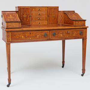Edwardian Inlaid Carlton House Desk