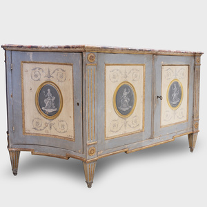Italian Neoclassical Style Painted and Parcel-Gilt Buffet, Probably Venice