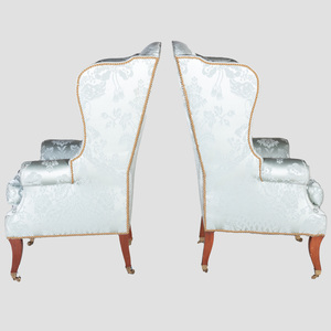Pair of George III Style Mahogany Wing Chairs