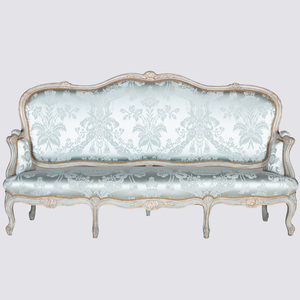 Louis XV Style Grey Painted Canapé