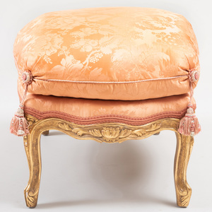 Large Louis XV Style Giltwood Tabouret