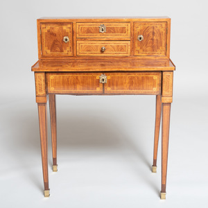 Louis XVI Ormolu-Mounted Kingwood and Tulipwood Parquetry Bonheur du Jour