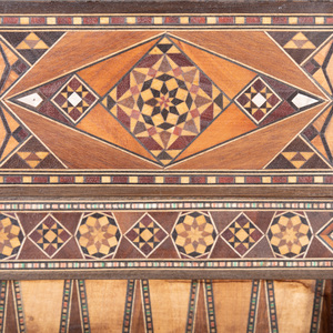 Moroccan Mother-of-Pearl Inlaid Exotic Wood Games Table