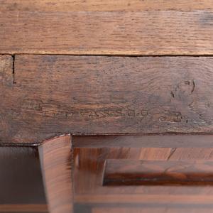 Louis XVI Ormolu-Mounted Kingwood and Tulipwood Parquetry Secrétaire à Abattant, Signed B. Vassou, JME