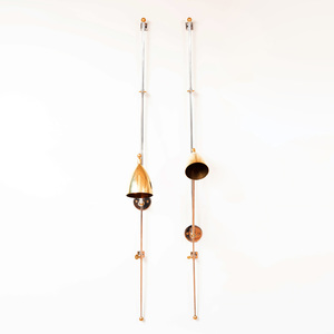 Pair of Cox London Chrome and Brass Sconces